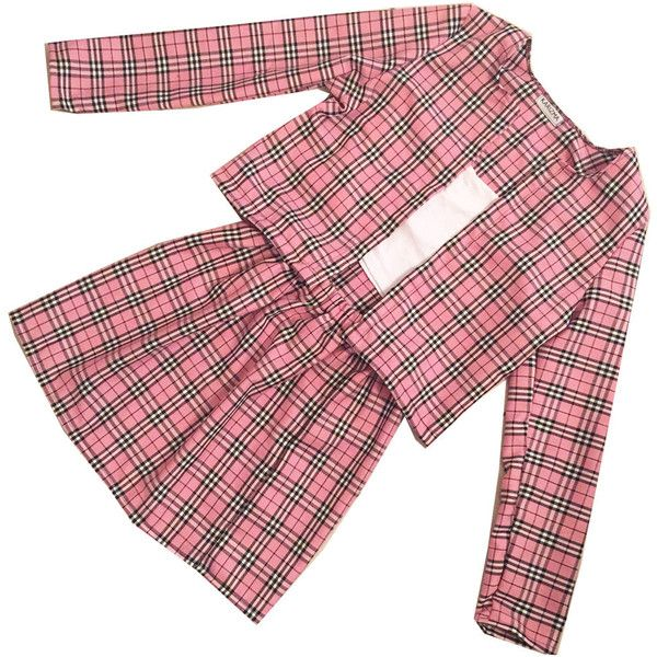 Pink Cher Tartan Plaid Two Piece Set Clueless Outfit Cher Clueless... ($69) ❤ liked on Polyvore featuring dresses