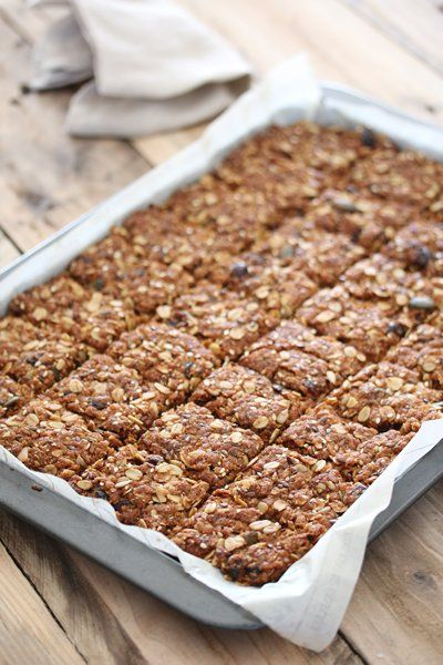 Cranberry , seed and oat crunchies