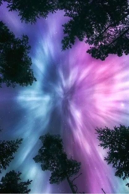 Northern lights art winter landscape Aurora borealis art galaxy painting - art Aurora Borealis Galaxy landscape Aurora Borealis / Northern Lights by Beautiful Sky, Beautiful Landscapes, Night Photography, Nature Photography, Landscape Photography, Northen Lights, Galaxy Painting, Painting Art, Moon Art