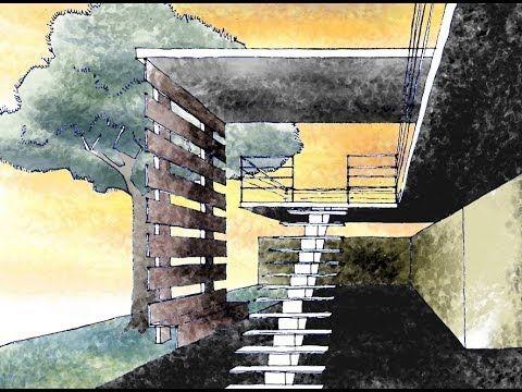 Como dibujar una escalera en perspectiva