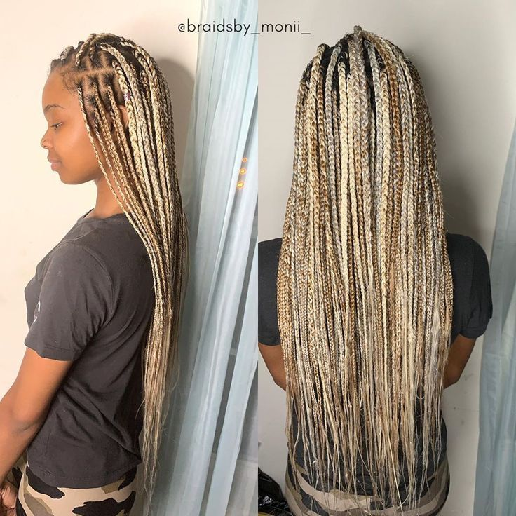 #sunkissed #instagram #knotless #braids #before #length in ...