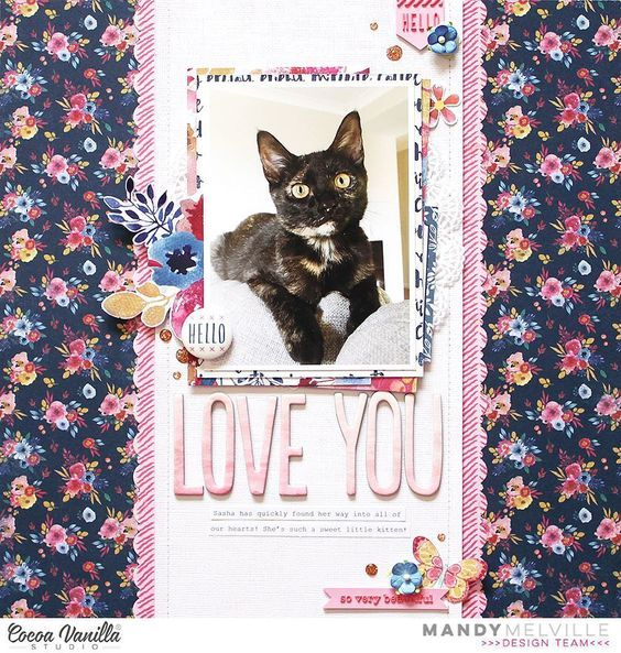 Today I'm up on the @cocoa_vanilla_studio blog sharing another layout featuring the beautiful Wild at Heart collection! Pop on over there for closeups and more details! #cocoavanillastudio #cocoa_vanilla_studio #cvsdesignteam #cvswildatheart #scrapbooklayout