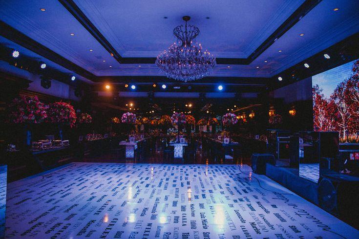 Ideias criativas para casamento: pista de dança personalizada - Foto Rafael…