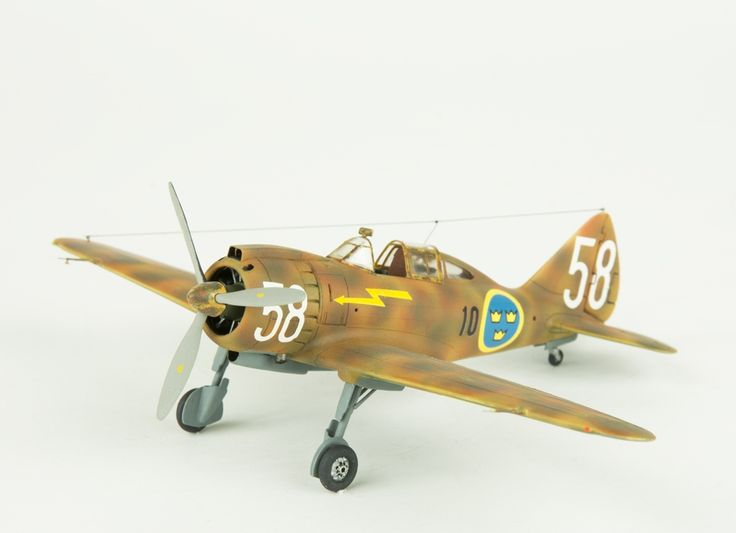 Model aeroplane Reggiane Re 2000 J 20 | Flygvapenmuseum | CC BY
