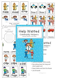 Literacy Centers Packet!  Silent E games and alphabetizing activities!