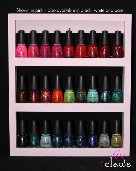 Wood Nail Polish Rack  'Little Princess' by FoxClaws on Etsy, $25.00