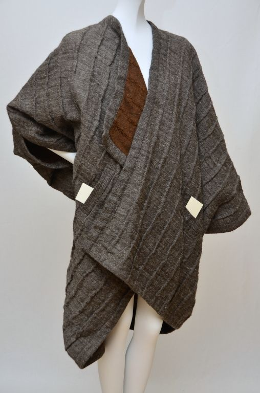 Issey Miyake Jacket Sweater 1980's | From a collection of rare vintage jackets at http://www.1stdibs.com/fashion/clothing/jackets/