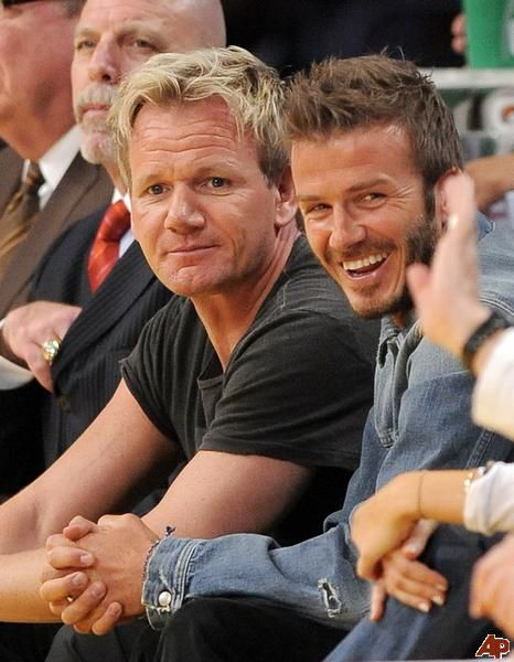 David -Beckham, Gordon Ramsay I would love to be a button on their jackets!!!!
