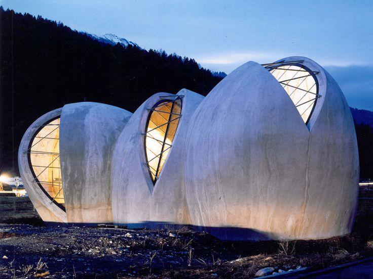 The Steinkirche (rock-church) |  Cazis, Graubünden, Switzerland | Swiss architect Werner Schmidt