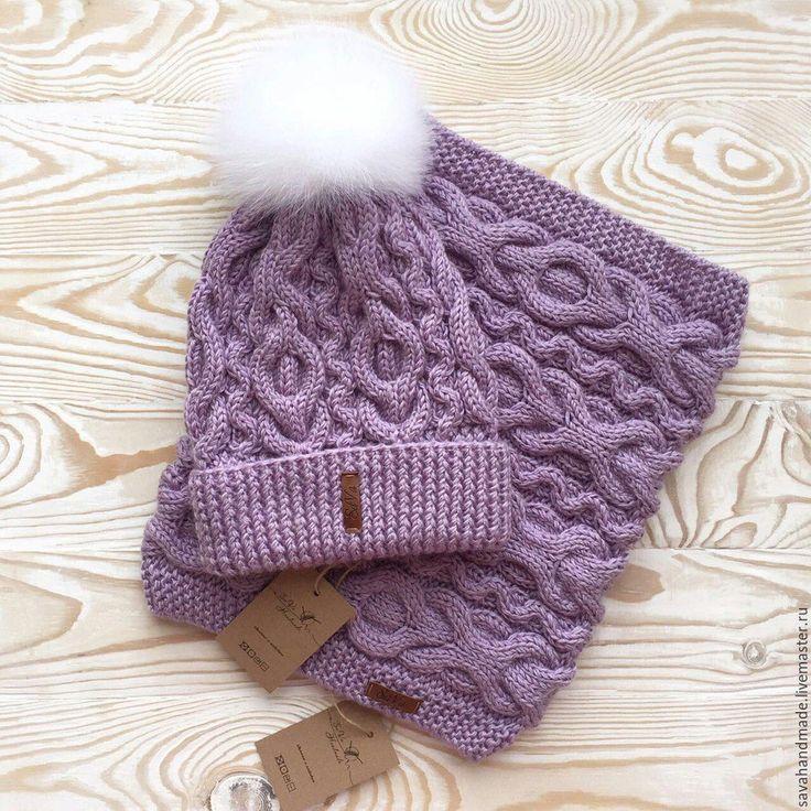 Купить Комплект шапка+снуд - шапка, снуд, снуд вязаный, снуд женский, шапка зимняя