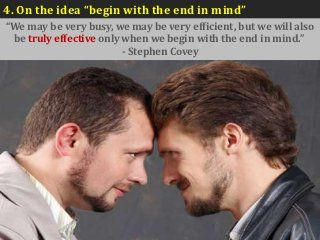 Begin with the end in mind..... Stephen R. Covey