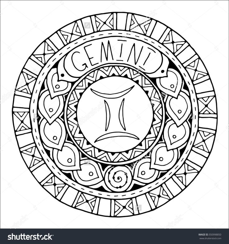 402 Best ✐♋Adult Colouring~Zodiac Signs Images On Pinterest