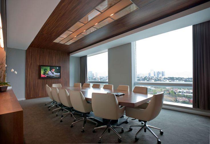 近代的なオフィスの会議室インテリアのアイデア