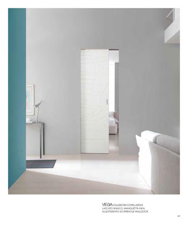 walldoor vega collezione costellazioni laccato bianco