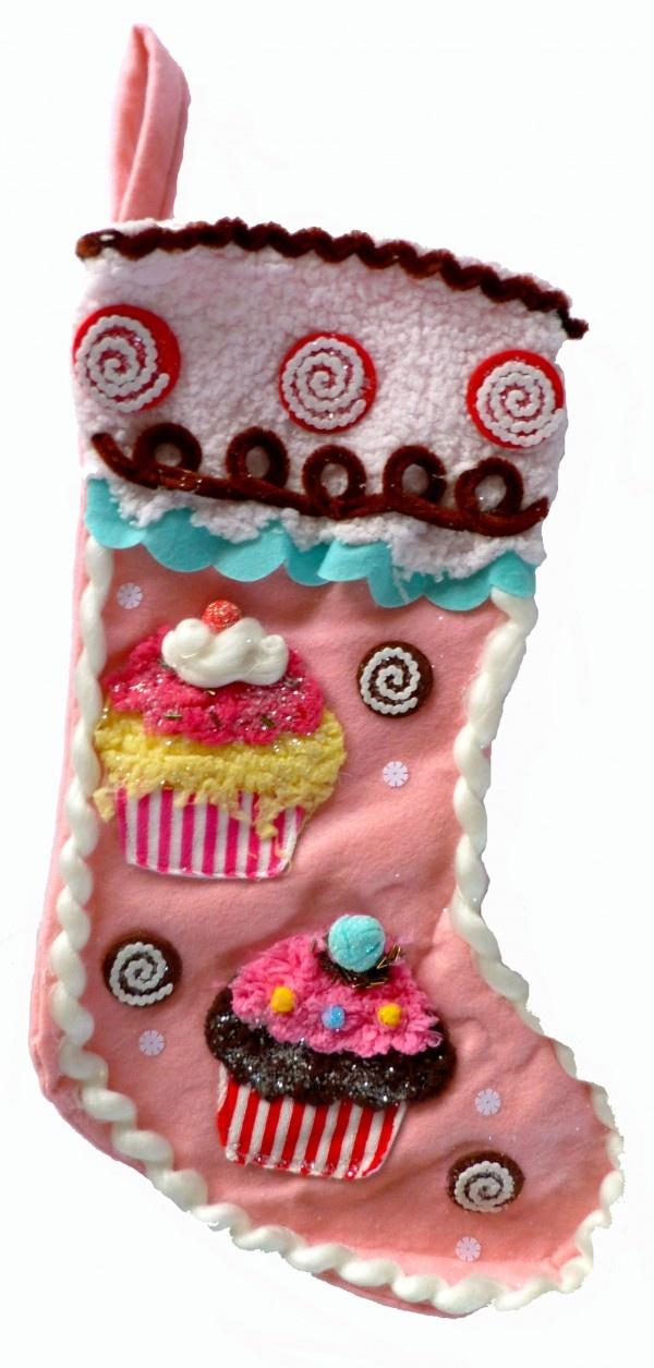Ho Ho Hoooo! Merry Christmas to you! En een fijne kerst wordt het zeker als je deze XL Cupcake Kerstsok vol met cadeautjes aantreft op kerstochtend! www.teitloos.nl