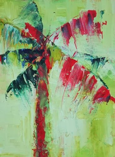 Contemporary Artists of Arizona: Abstract Palm Tree, Contemporary Landscape Paintings by Arizona Artist Amy Whitehouse