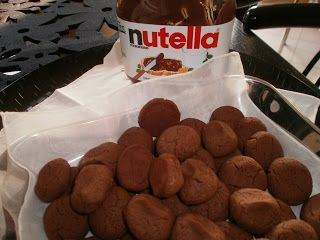 RECIPES CHARA: Cookies with 3 ingredients (Delights with Nutella, Nutella μπισκότα με)