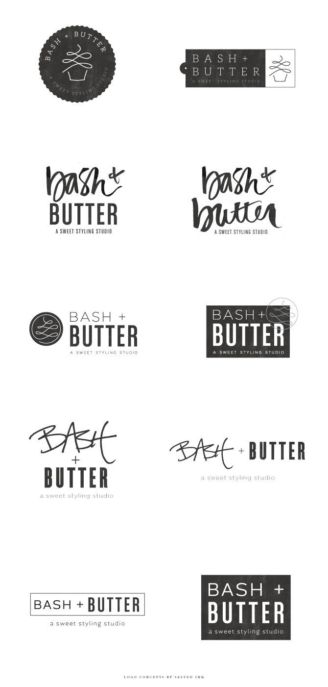 Brand Launch: Bash + Butter - Salted Ink Design Co. | logo concepts | #logo #design #brand #branding | www.saltedink.com