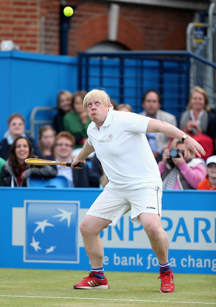 11 Astonishingly Derpy Photos Of Boris Johnson Playing Tennis