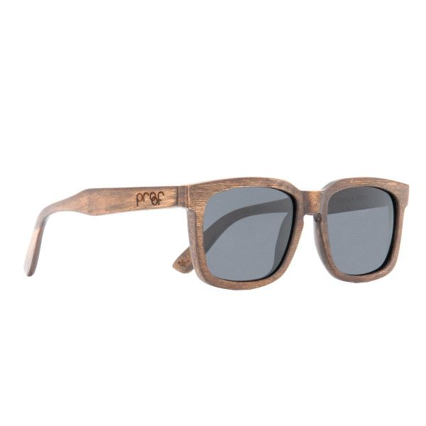 Handmade from sustainably sourced wood Polarised lens   100 UVA-UVB protection Black Maple: Sky mirror polarised lens Stainless steel spring loaded hinges