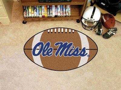 "Mississippi Football Rug 20.5""x32.5"""