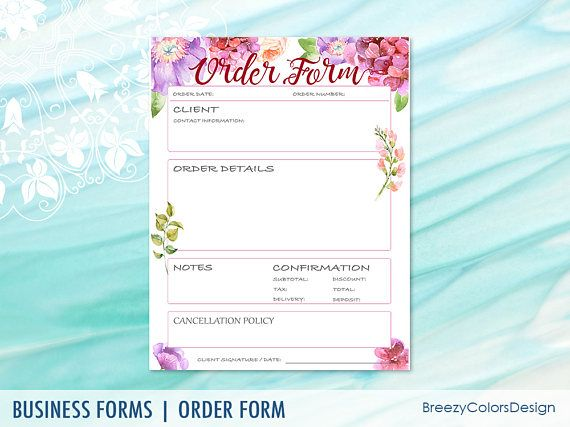38 best Order Form Templates images on Pinterest Order form - information form template