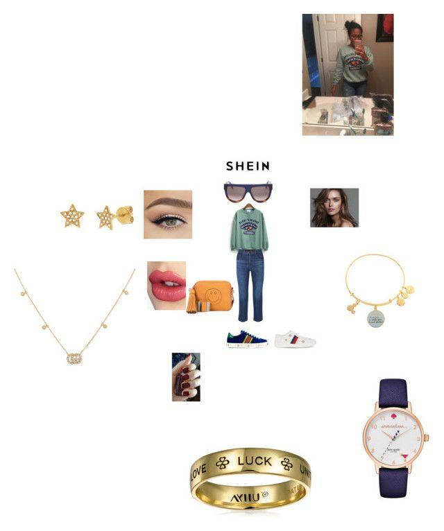 """Win 30$ coupon with SHEIN"" by annali1983 ❤ liked on Polyvore featuring J Brand, Gucci, Charlotte Tilbury, Anya Hindmarch, CÉLINE, Alex and Ani, Kate Spade and Bling Jewelry"