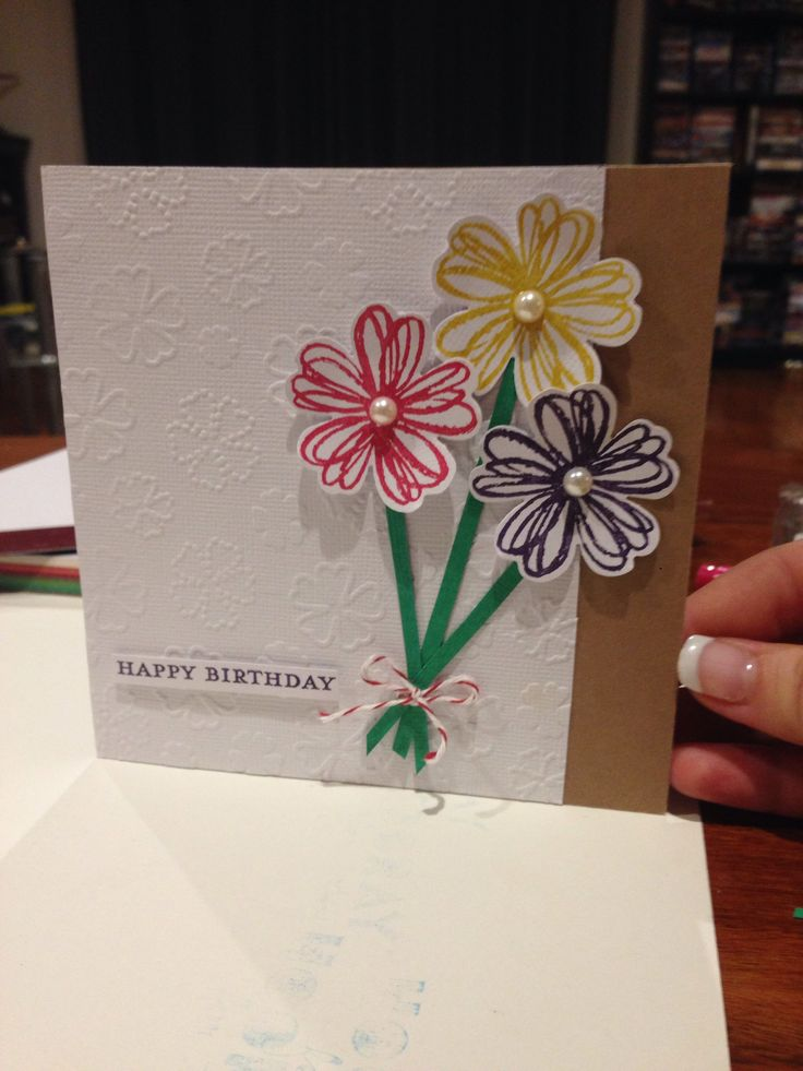 Stampin Up flower shop. Female birthday card