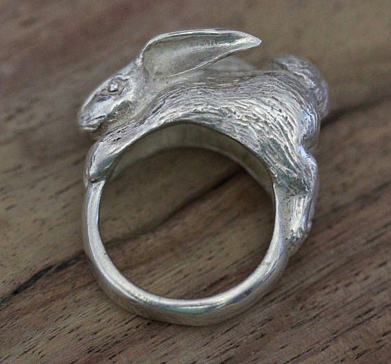 Retired James Avery Bunny Rabbit Ring Sterling Silver Vintage