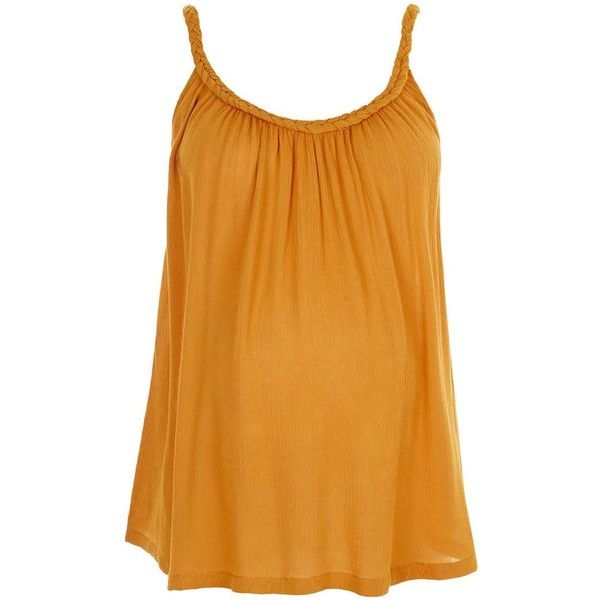 TopShop Maternity Plait Cami ($9.35) ❤ liked on Polyvore featuring maternity
