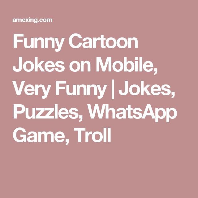 Funny Cartoon Jokes on Mobile, Very Funny | Jokes, Puzzles, WhatsApp Game, Troll