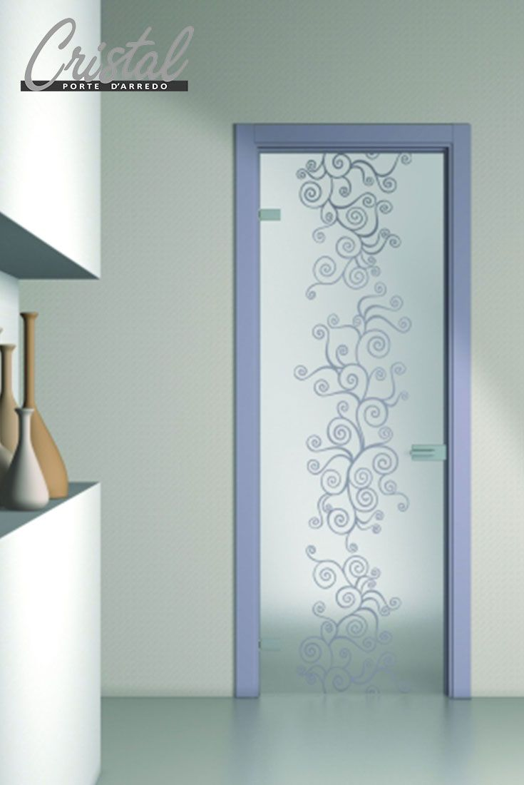 13 best images about porte vetro stile contemporaneo on - Porte con vetro decorato ...