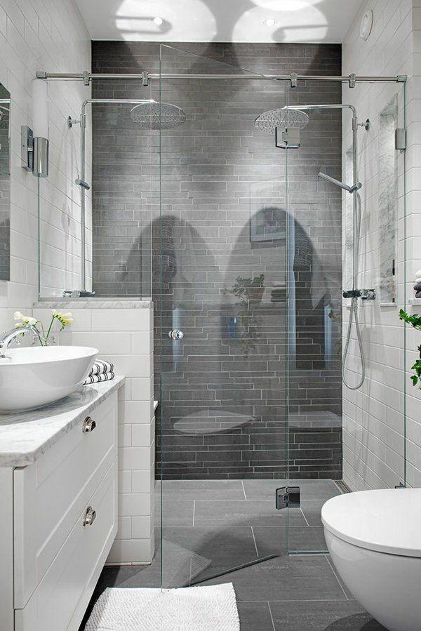 salle de bains grise, salle de bains et gris et blanc