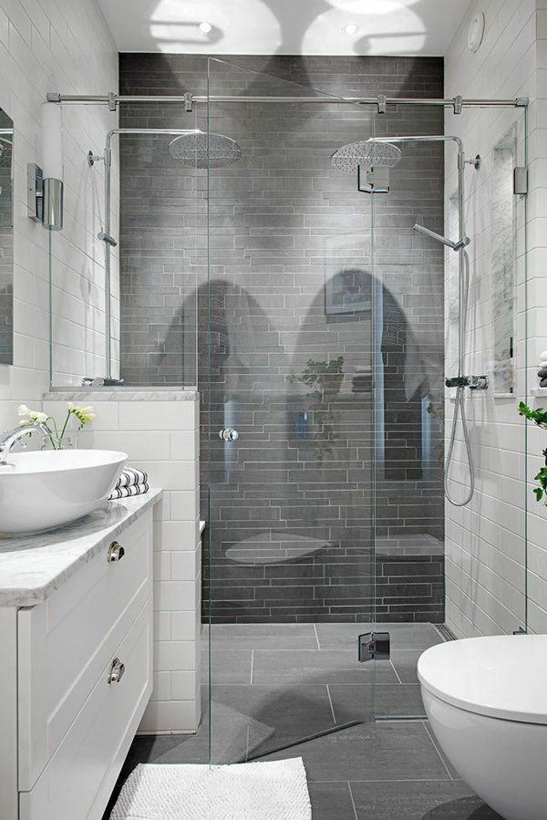 17 meilleures id es propos de salles de bains for Salle de bain gris et blanc