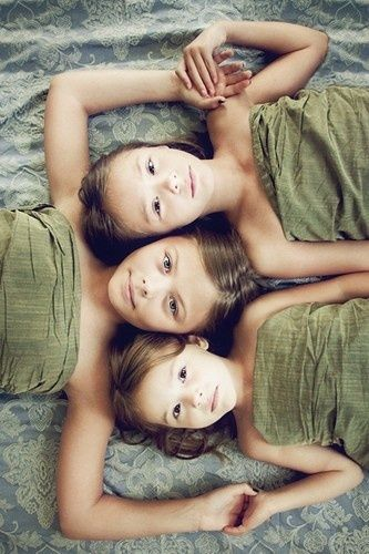 photography inspiration and ideas:) I think I would have my girls each in bright colors though.