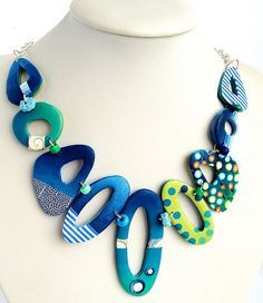 bluegreen leftovers by Ma-belette, via Flickr Also good shawl pin shapes