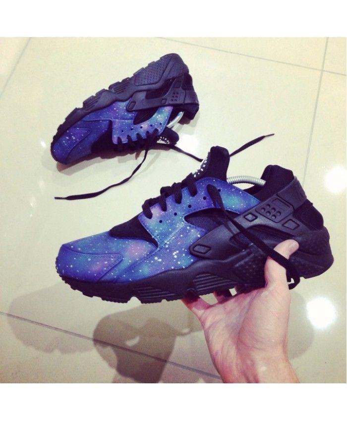 new style a8940 67696 Nike Air Huarache Galaxy Deep Blue Black Trainers