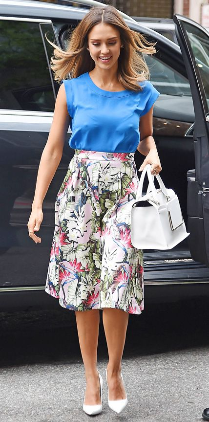 Look of the Day - June 20, 2014 - Jessica Alba in Topshop from #InStyle