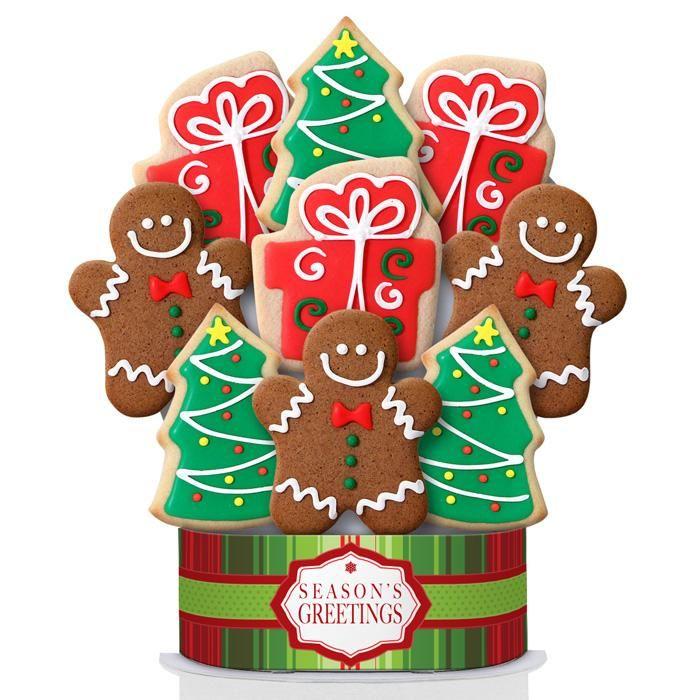 Season's Greetings 9 Cookie Bouquet