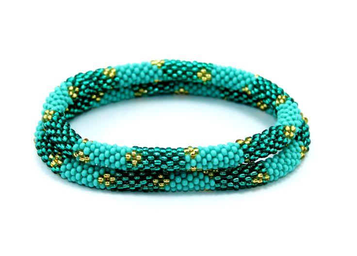 Roll On Bracelets, Beaded Bracelets, Handmade Bracelets, Nepal Bracelets, Anthropologie Style Bracelet, Gypsy Bracelets, Yoga Bracelets by EthnoKolor on Etsy