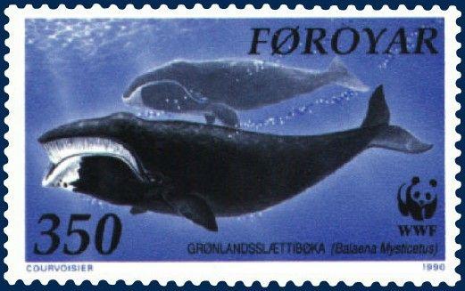 Timbre Iles Féroé Baleine boréale