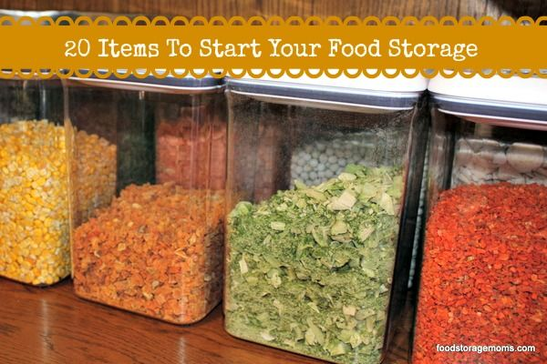 20 Items to Start Your Food Storage | #prepbloggers #food #storage