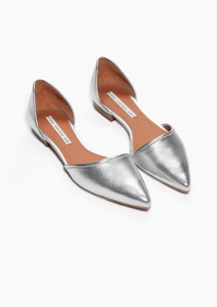 & Other Stories | Pointy Silver Flats