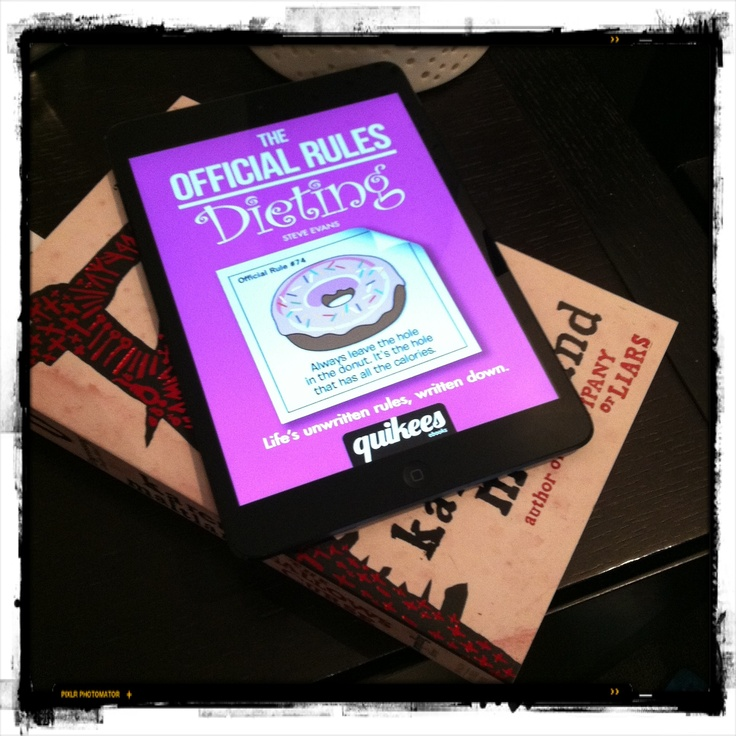 The hilarious new eBook The Official Rule for Dieting is now available on iTunes  https://itunes.apple.com/us/book/the-official-rules/id583490250?mt=11=4