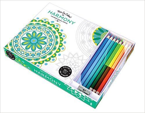 Vive Le Color Harmony Adult Coloring Book And Pencils Therapy Kit