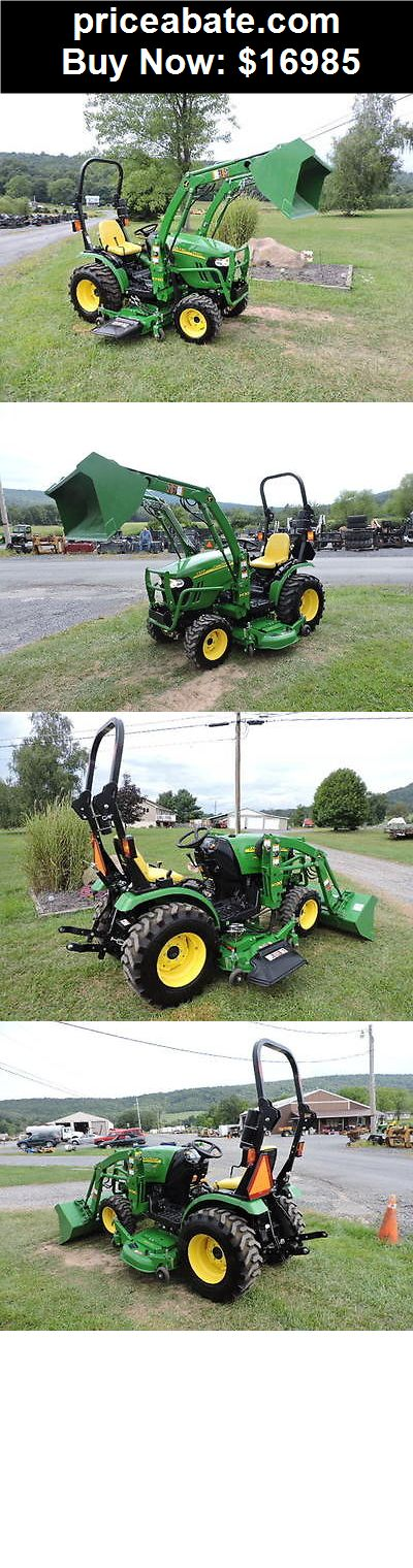 "Heavy-Equipments: 2012 John Deere 2320 Compact Tractor Loader 62"" Belly Mower 4x4 PTO Diesel - BUY IT NOW ONLY $16985"