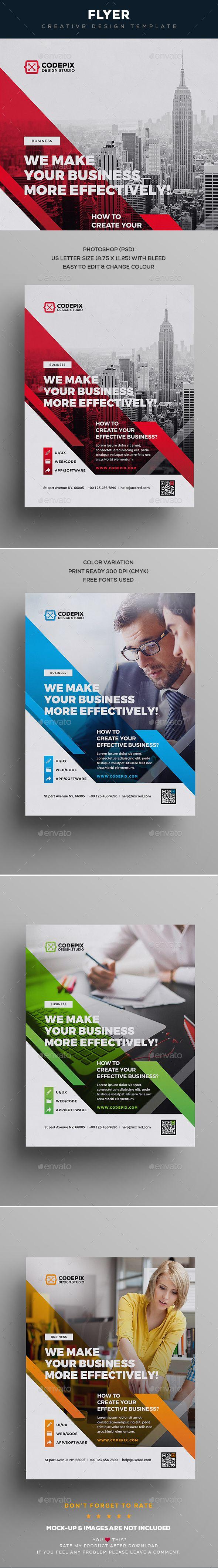 Flyer Template PSD design 564 best Design