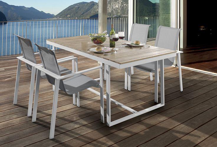 1000 id es sur le th me salon de jardin alu sur pinterest salon de jardin aluminium table - Mobilier de jardin blanc versailles ...