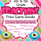 This bundle includes six engaging, self-checking poke games to give students practice with fractions.   Get all of the following titles for $6.50 -...