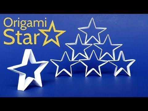 Estrella de Origami de Navidad ☆ Tutorial DIY: Cómo hacer una estrella de papel fácil - YouTube